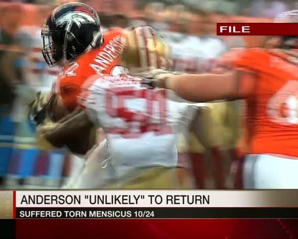 """Anderson's Return """"Unlikely"""""""