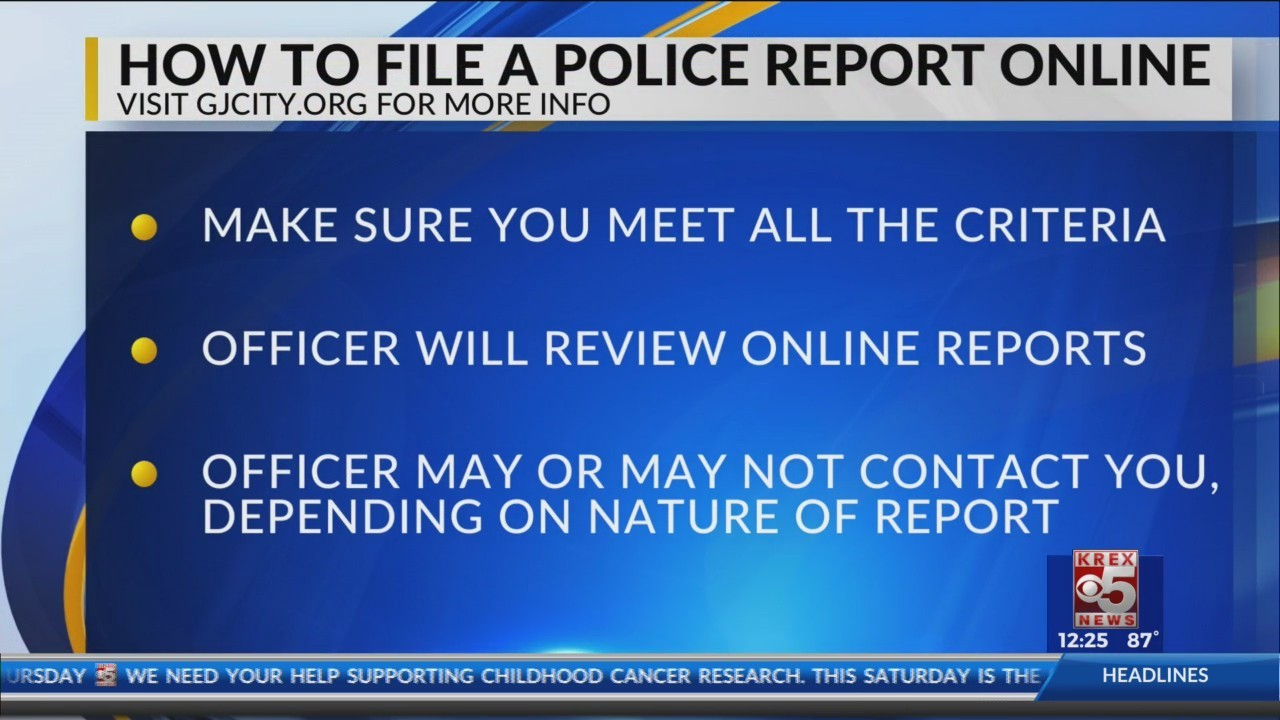 How To File An Online Police Report