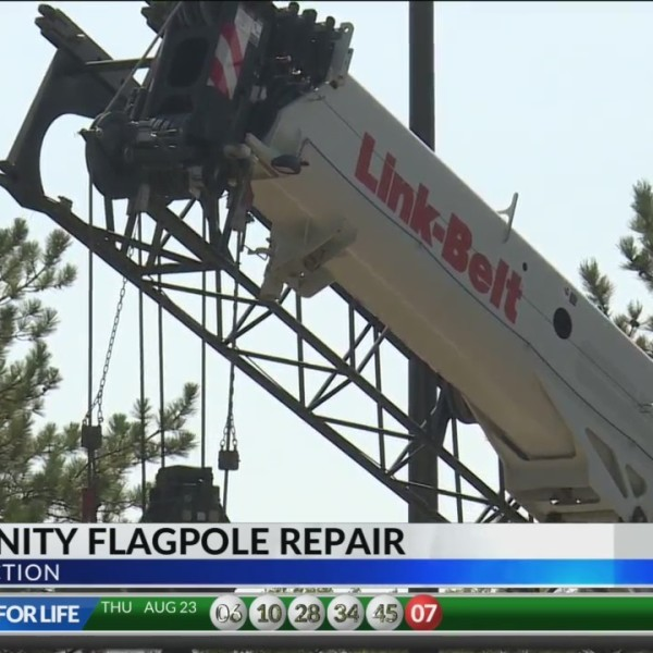 Businesses Bind Together to Repair Broken Flagpole