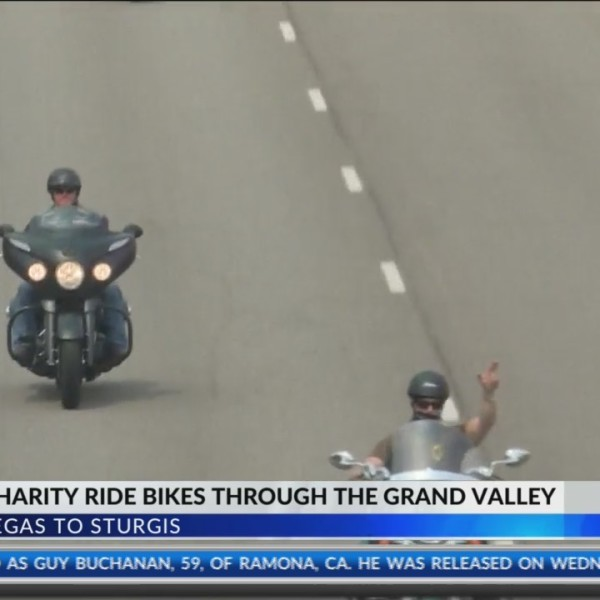 Veterans Charity Ride Bikes Through the Grand Valley