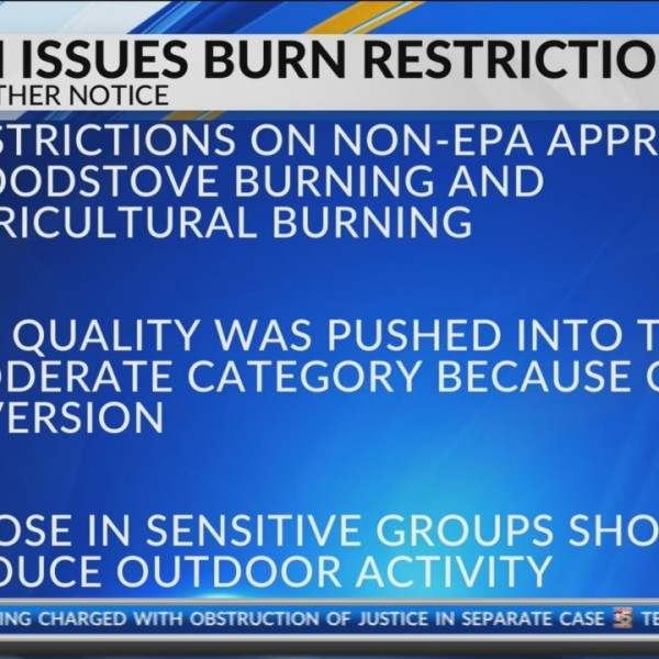 burn restrictions