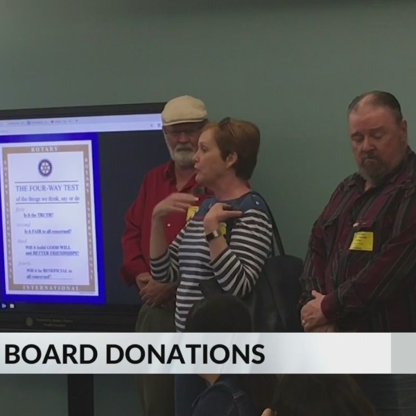 Middle School Aquos Board Donations