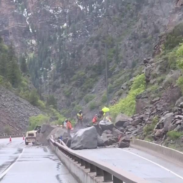 Rock Slide Glenwood Canyon