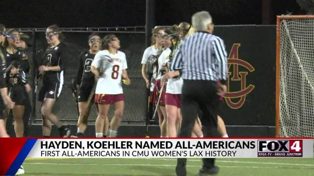 Hayden and Koehler First CMU Lax All-Americans