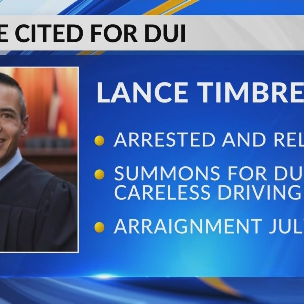 Judge cited for a DUI